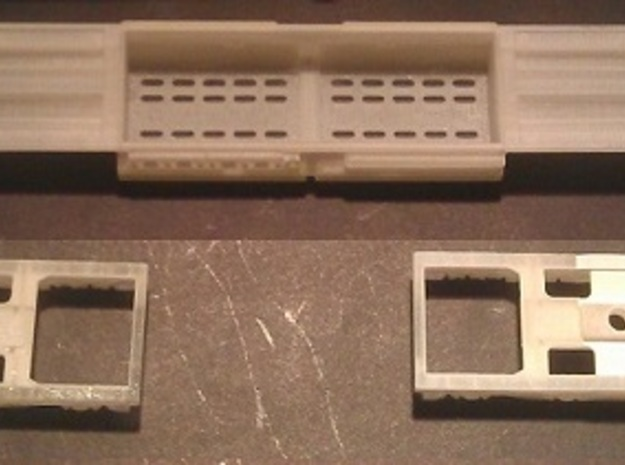 EMD DD35 Dummy Chassis N Scale 1:160 in Smooth Fine Detail Plastic