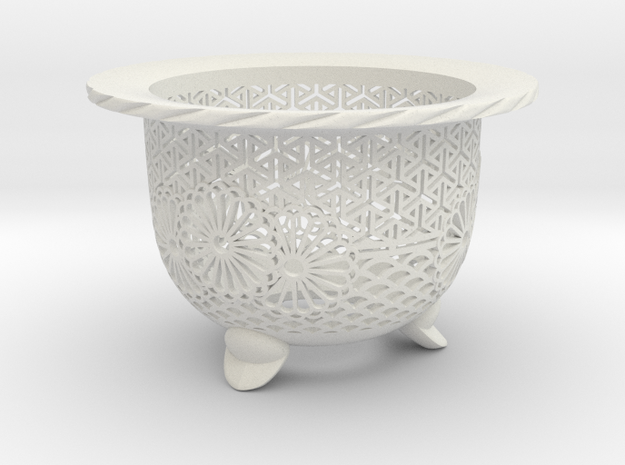 "Neo Pot - Model 3 - Size 3.5 (3.2"" ID) in White Natural Versatile Plastic"