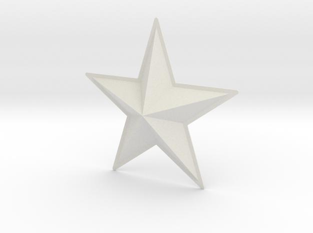 Captain America: TFA Chest Star in White Strong & Flexible