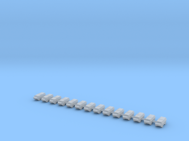 1/700 Vehicule de l'avant blinde (VAB VTT) (x14) in Smooth Fine Detail Plastic
