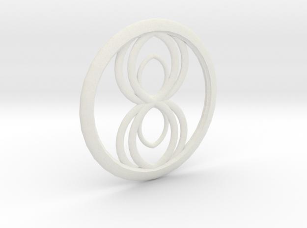 Infinity Spider Pendant in White Natural Versatile Plastic