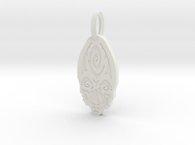 Human Cerberus in White Natural Versatile Plastic