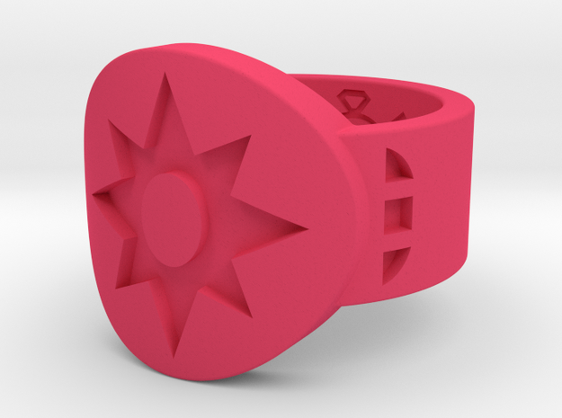 Star Saphire Violet FF (Sz's 5-15) in Pink Processed Versatile Plastic