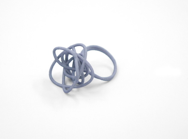Sprouted Spiral Ring (Size 8) 3d printed Azurite (Custom Dyed Color)
