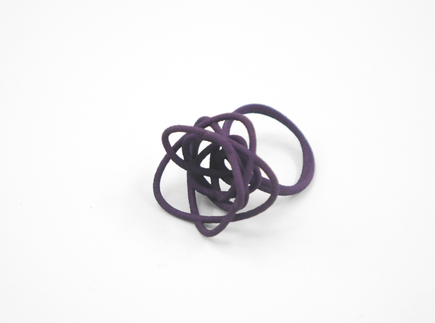 Sprouted Spiral Ring (Size 8) 3d printed Midnight (Custom Dyed Color)