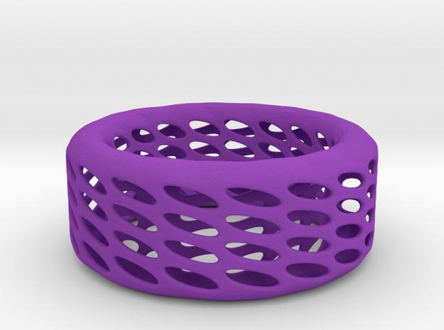 Eggcup Ring in Purple Processed Versatile Plastic