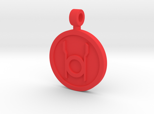 Red Rage Pendant in Red Strong & Flexible Polished