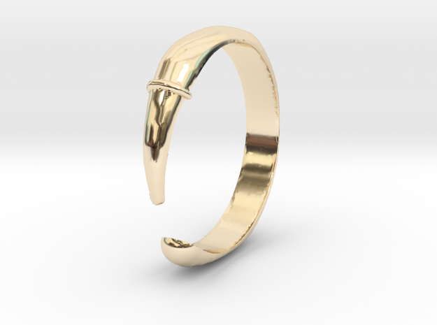 Single Claw Ring - Sz. 9 in 14K Yellow Gold