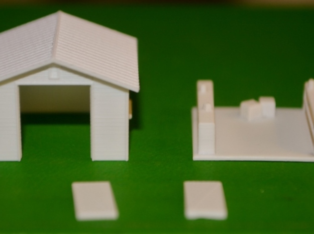 HO-Scale Backyard Shed (Revised) in Smooth Fine Detail Plastic