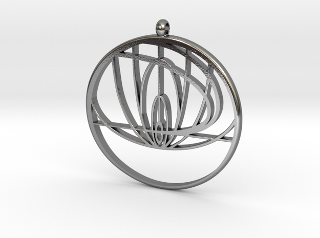 John Titor Necklace in Polished Silver