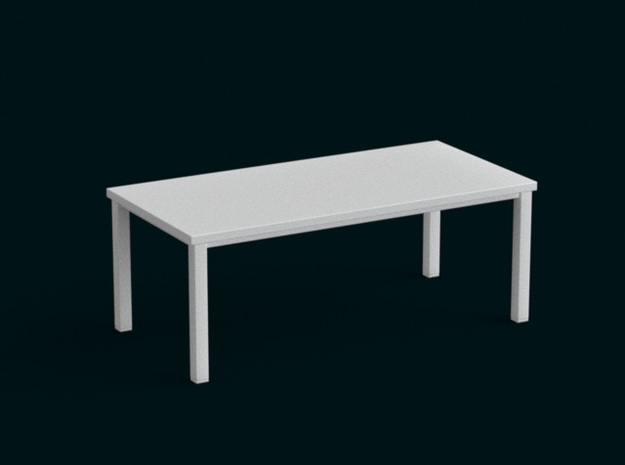 1:39 Scale Model - Table 10 in White Natural Versatile Plastic