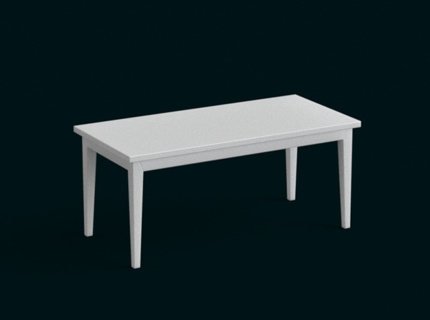 1:39 Scale Model - Table 08 in White Natural Versatile Plastic