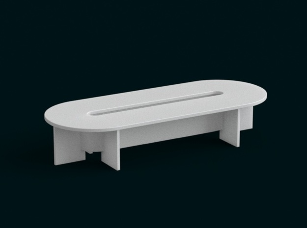 1:39 Scale Model - Table 05 in White Natural Versatile Plastic
