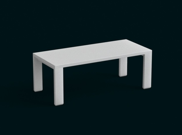 1:39 Scale Model - Table 04 in White Natural Versatile Plastic