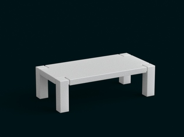 1:39 Scale Model - Table 01 in White Natural Versatile Plastic