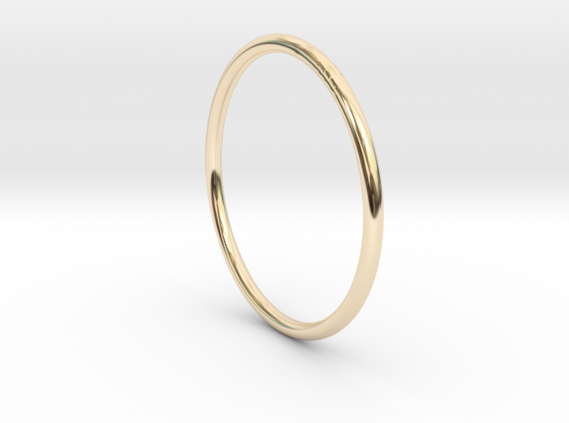 Round One Ring - Sz. 9 in 14K Yellow Gold
