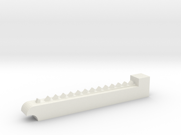 Chainsaw blade - rough in White Natural Versatile Plastic