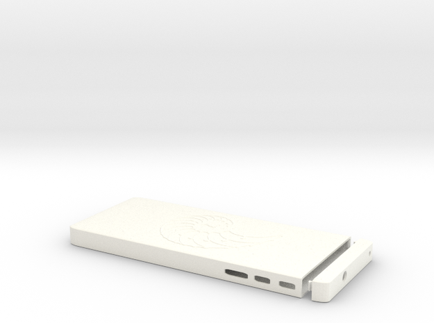 Slim 3200mah Universal Dual Out USB Charger in White Processed Versatile Plastic