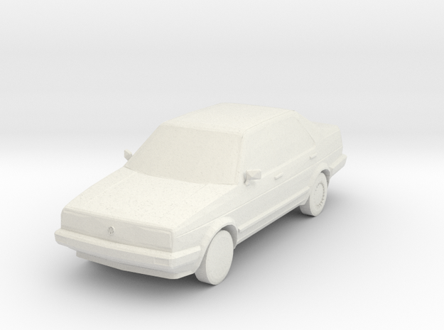1:87 VW Jetta MK2 in White Natural Versatile Plastic