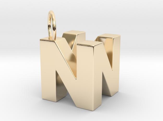 N64 Logo - SOLID in 14K Gold