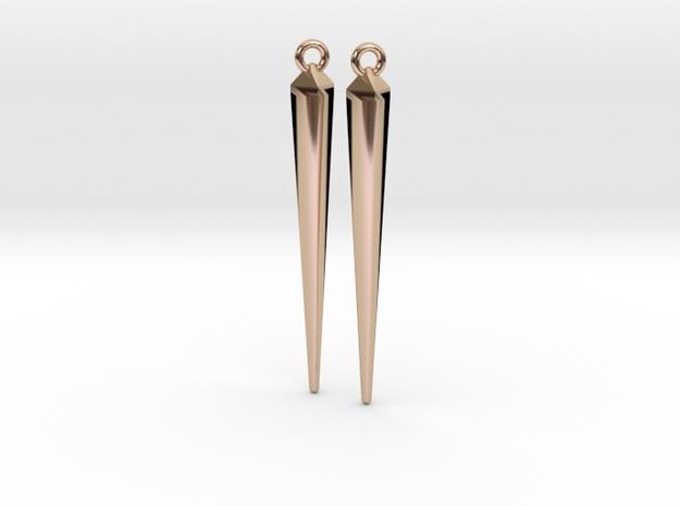 spike earrings in 14k Rose Gold