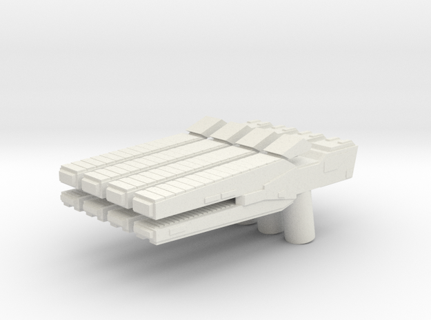 Custom rail gun x4 for Lego minifigs in White Natural Versatile Plastic