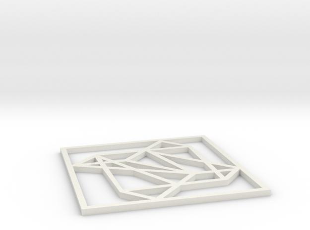 PENDANT01 in White Natural Versatile Plastic