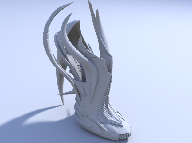 Exoskeleton Shoe - Full Size 3d printed Render 2