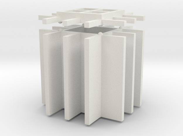 Table Lamp Glass in White Natural Versatile Plastic