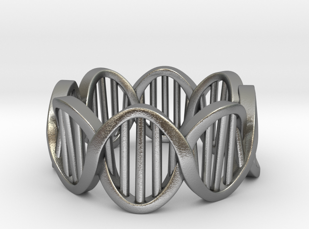 DNA Ring (Size 10) in Natural Silver