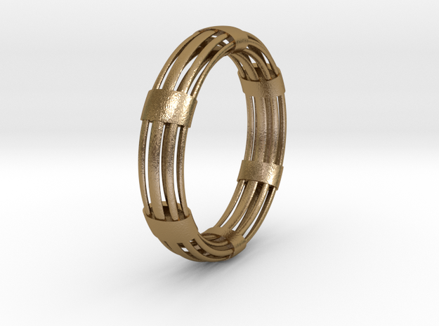 CircuitoOcho in Polished Gold Steel