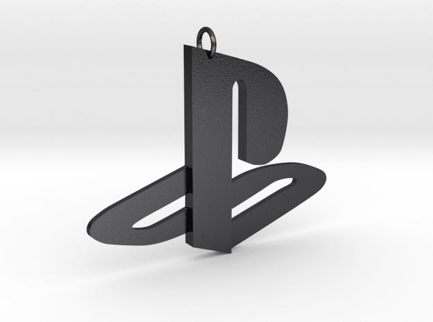 Playstation Logo Pendant in Polished Grey Steel
