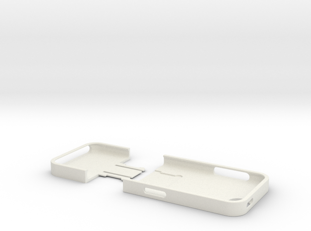 iPhone5 Case (Two Part) in White Strong & Flexible