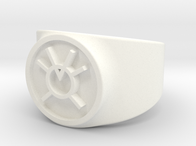 Orange Avarice GL Ring Sz 10 in White Processed Versatile Plastic