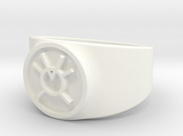 Orange Avarice GL Ring Sz 15 in White Processed Versatile Plastic