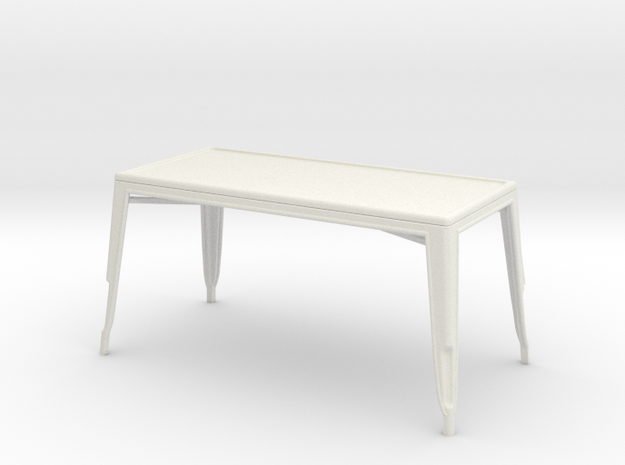 1:24 Pauchard Dining Table, Large in White Natural Versatile Plastic