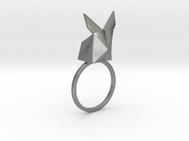 Rabbit Ring in Raw Silver