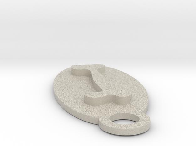 Dog Bone Key Chain in Natural Sandstone