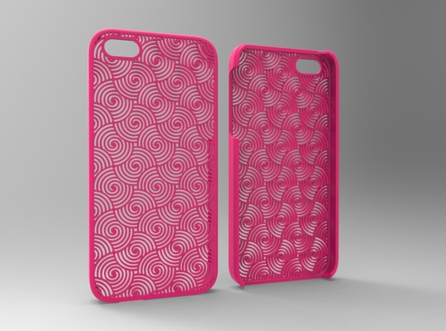 Iphone5 Case 2_5 in Pink Processed Versatile Plastic