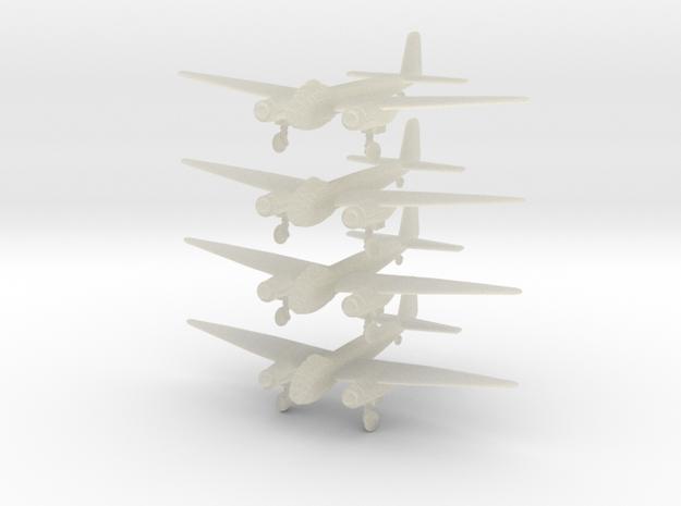 Ju188a-350-wheels-x4 in Transparent Acrylic