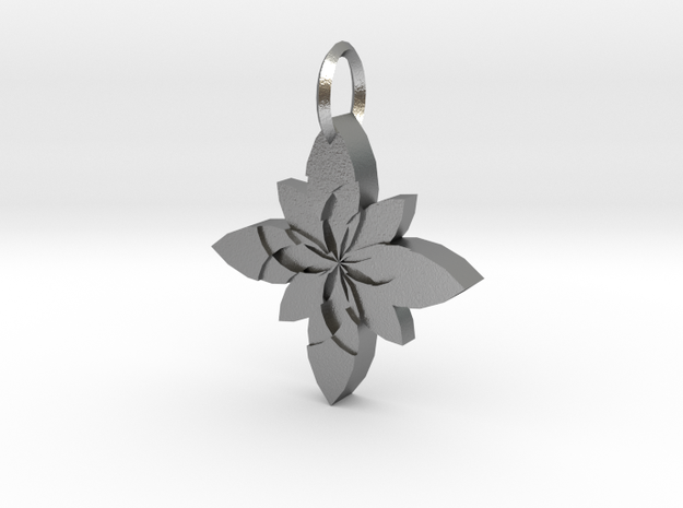 Sacret Flower geometry in Natural Silver