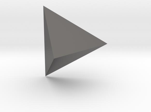 Tetrahedron edge length: 74mm  in Polished Nickel Steel