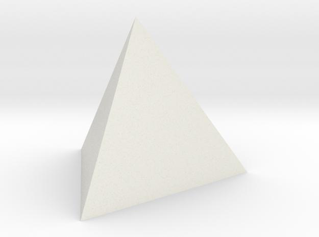 Tetrahedron 4er 20mm in White Natural Versatile Plastic