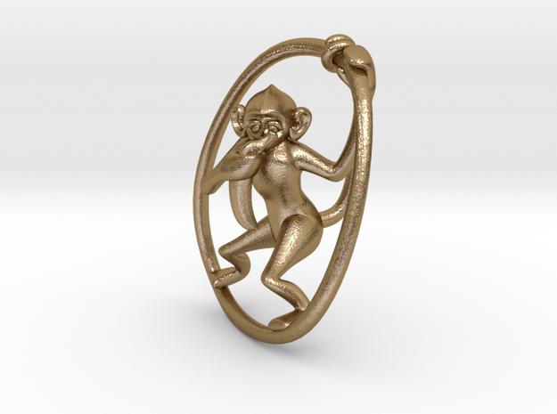 Speak No Evil. No,2 in Polished Gold Steel