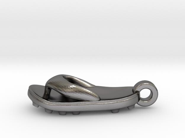 Soccer / football flipflop pendant 3d printed Football flipflop sandal pendant