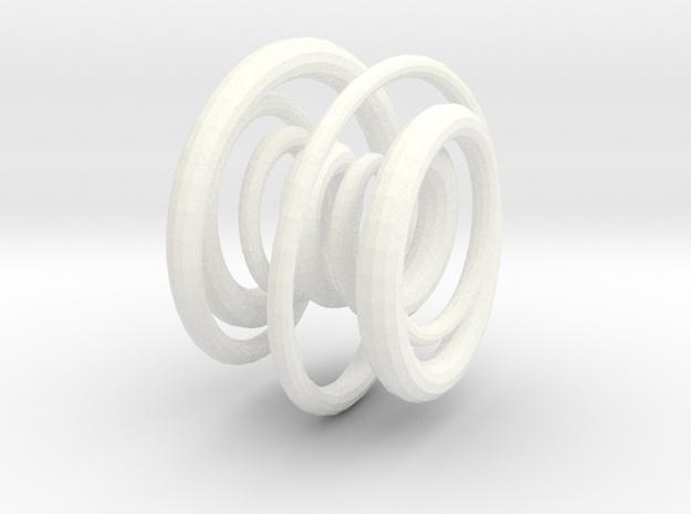 Torus Pendant in White Processed Versatile Plastic
