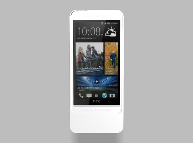 HTC One M8 3200mah Charger with USB Power Out in White Natural Versatile Plastic