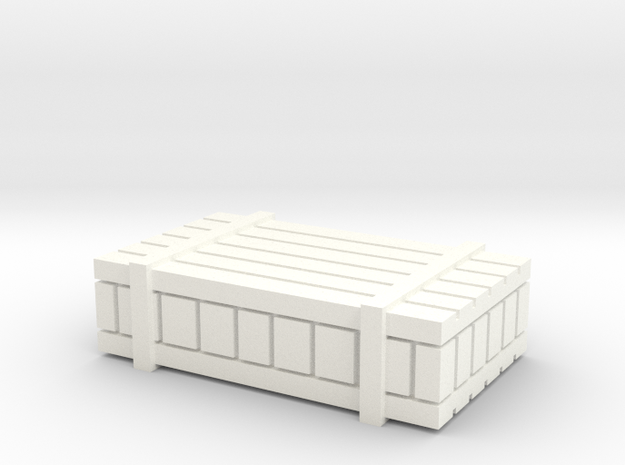 Ammo Box in White Strong & Flexible Polished