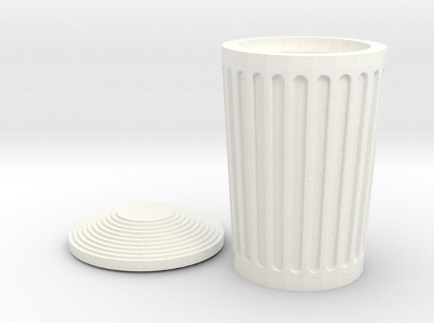 Dumper Opened in White Processed Versatile Plastic