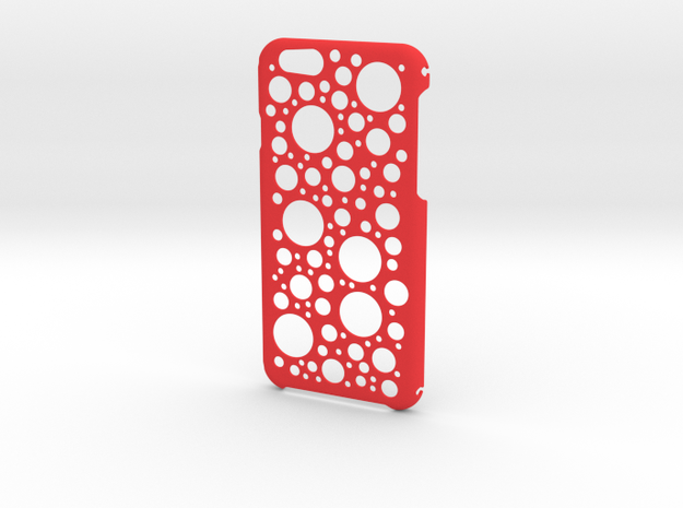 iPhone 6 Circles Case in Red Processed Versatile Plastic